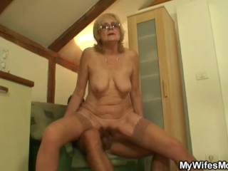 Redhead pigtail babe fucks her friends father