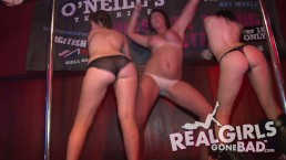 hot college girls striptease during a sexy wet t-shirt contest