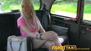 Preview 3 of FakeTaxi Young blonde takes cash for backseat blowjob