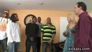Samantha Sin interracial cuckold  blow bang bbc milf big tits blonde riding shaved gangbang creampie interracial cowgirl cuckold doggy style fake tits busty pussy licking