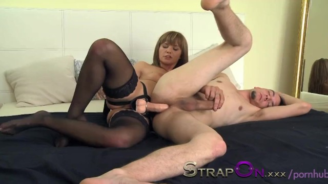 Man pleasure toys Strapon she takes pleasure in pegging her man