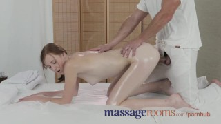 Massage Rooms Deep and intense fuck makes freckled redhead squirt Natural rough