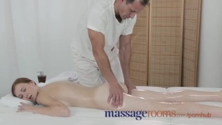 Massage Rooms Deep and intense fuck makes freckled redhead squirt Big girl