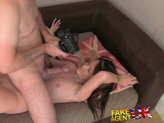 FakeAgentUK Naive tight pussy is put to the test in fake casting