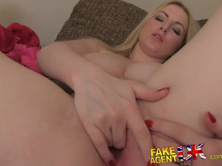 Fakeagentuk office couch sex for sexy amsterdam stripper - 2 part 5