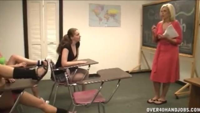 Hand job classroom Handjob in the classroom