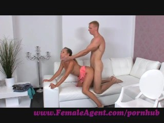 FemaleAgent. Gentle giant makes female agent weak at the knees