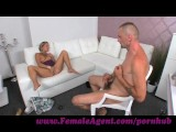 FemaleAgent. Mutual masturbation on casting couch