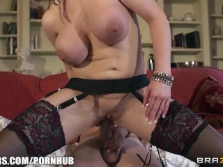 Brazzers - Busty British maid gets a hard cock in her ass