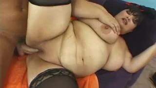 tattooed big tits milf giving massive dick blowjob outdoor