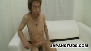 Horny japan cock dude junichi stroking sonoda stiff his stroking rubbing