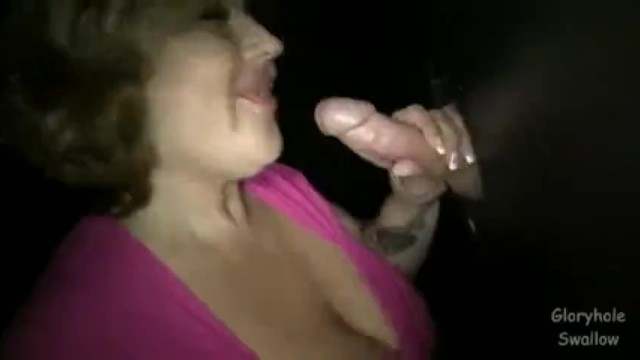 Gloryhole swallow full video