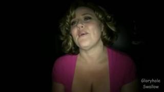 Gloryhole Swallow Jessi  orgasm big boobs homemade cumshot busty