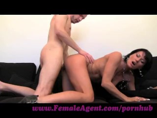 FemaleAgent Stud can fuck MILF agent for hours