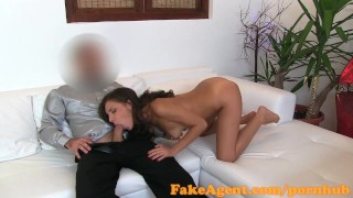 FakeAgent Anal creampie for sexy amateur Reality 3some