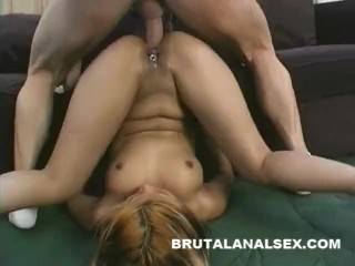 Petite Asia has her asshole and mouth pounded