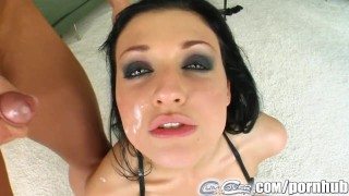 Aletta Ocean gets bukkakked by five massive cumshots