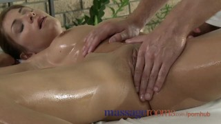 Massage Rooms Tight young girls squirting with orgasm before creampie porno