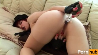 Dildos wet officer pussy her tight redhead police dildo