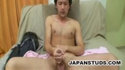 Masatoshi Takemura - Handsome Japanese Guy Jerking His Small Cock