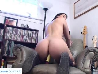 Curvy Teen Valerie Kay Toying Moist Pussy