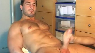 Why are you getting to wank my huge cock? I'm a straight guy ! Handsome homemade