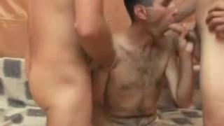 Men cock sucking threeway these for jizz sex