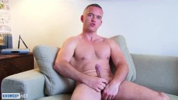 A sexy sport guy get wanked his huge cock in spite of him !