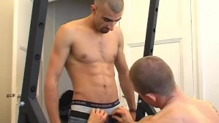 Straight spite cock his in arab this get sport trainer hard of him sucked  gay wanked