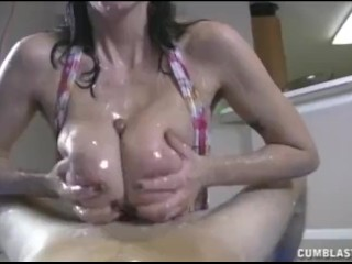 Top 10 Porn Stars Clips Huge Cumshot For The Busty Brunete, Big Tits Cumshot Handjob Pornstar