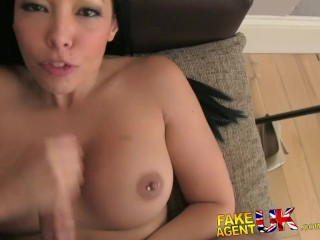 FakeAgentUK MILF porn offered to hot amateur chick during casting