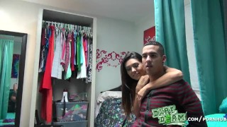 Ex a his two college get dare girls help dorm cheating guy over point girl