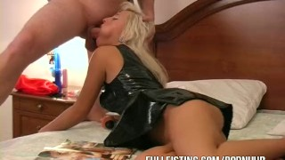 Latex Bitch Gets Fisted And Facialized