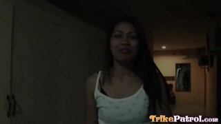 Filipina streetwalker sucks a mean dick and gets pussy creamed  ass riding close-up creampie trimmed asian blowjob cumshot trikepatrol.com hardcore petite babes deepthroat anal small-tits