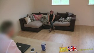 FakeAgentUK Petite cash strapped MILF gives multiple orgasms