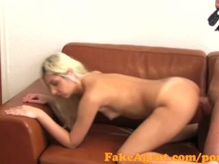 FakeAgent Cute blonde angel covered in spunk