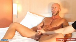 Aymeric Deville: his 1srt porn with us: get wanked his huge cock !