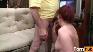 Papy volume voyeur scene  cumshot redhead