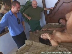 Husband Watches Wife Get Screwed