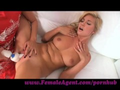 FemaleAgent. Tall blonde beauty in outstanding lesbian casting