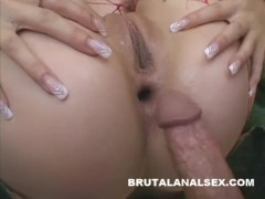 Blonde beauty devours cock and cum with her tongue and asshole