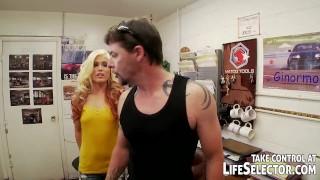 The mighty mechanic fucks sexy, horny babes porno