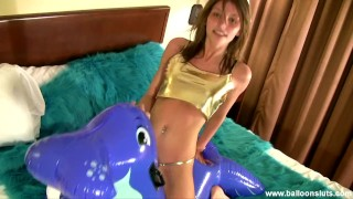 Lola Fucks her Inflatable Walrus