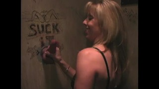 Fun at a Glory Hole about 10 years ago  cum on tits big tits carol cox fellatio blowjob cumshot fetish orgasm glory hole cock suck blow job glory hole cum glory hole fuck