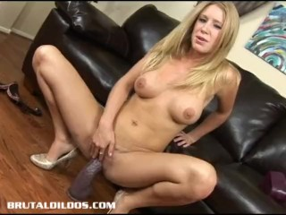 Busty allison pierce filling her pussy with a massive dildo 10
