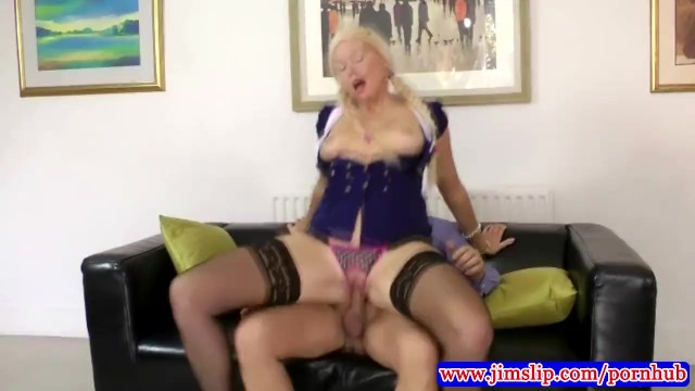 Tails fucked Blonde in pony tails fucked by old man