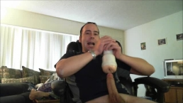 Huge white cock fucks toy like berzerk