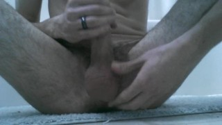 Time bathroom fun jerking trim
