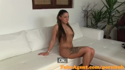FakeAgent Cute young babe gets spunked over