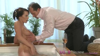 Preview 3 of Love Creampie Busty mom gets cum inside after sexy romantic hot tub romp